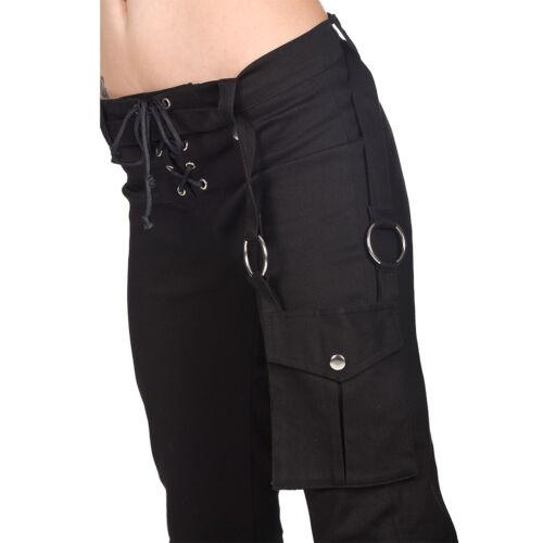 BLACK Pistol GOTHIC Goth Punk Festival Jeans Donna Pantaloni-Ring Denim Hipster