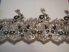 Silber & schwarz pailletten Englisches spitze rand Abendkleid burda Pro Yard