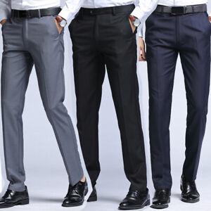 Uomo Ufficio Su Misura Abito Pantaloni Gamba Dritta Slim Fit Eleganti Formali Ebay