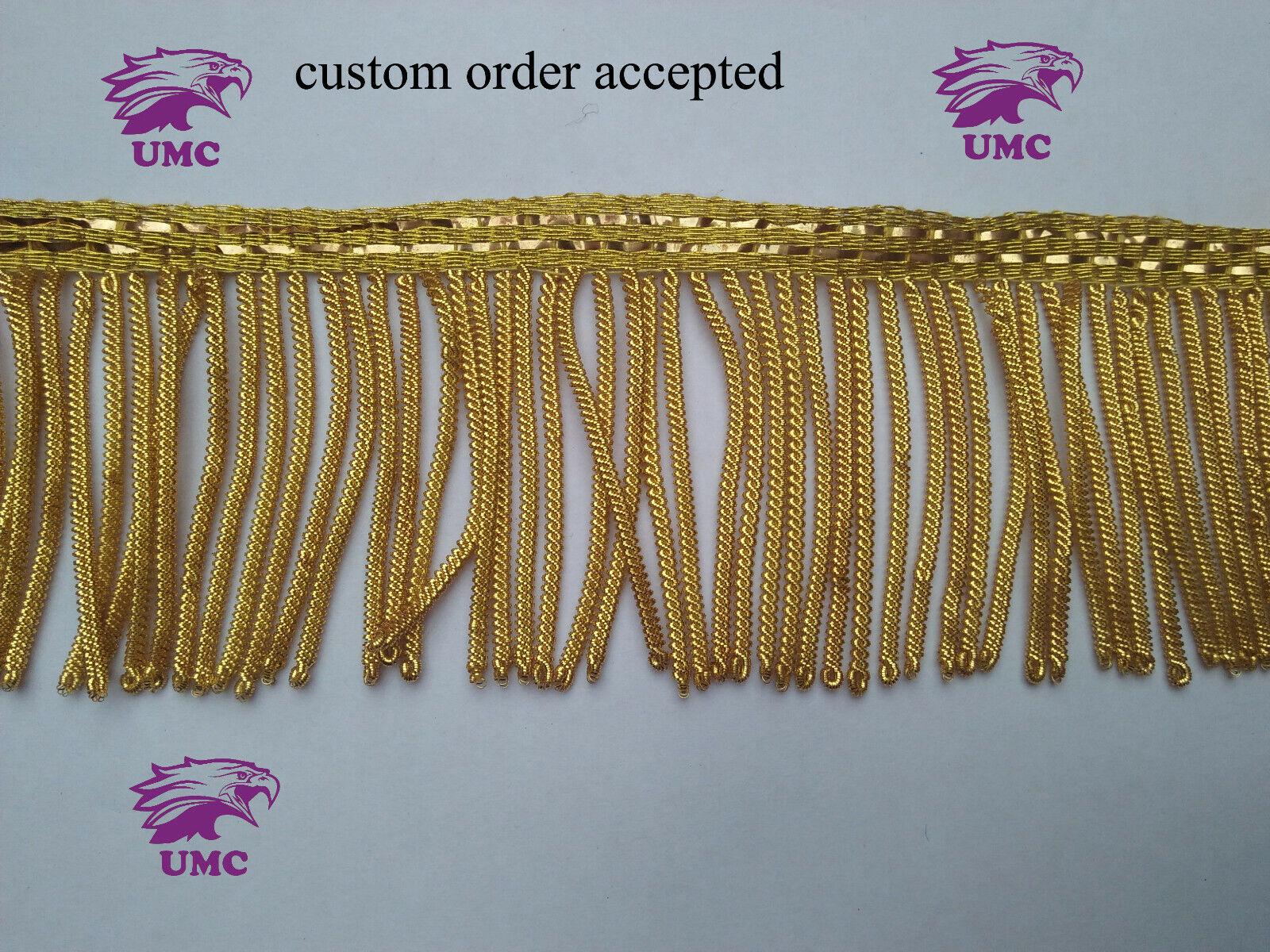 "4/""3//4 Antique Gold Valmont 36026-9120 HOULÈS Bullion Fringe 120 mm"