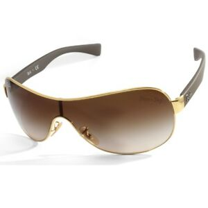 f7d33a0e30 Ray-Ban RB3471 001 13 Youngster Gold-Brown Brown Gradient Shield ...