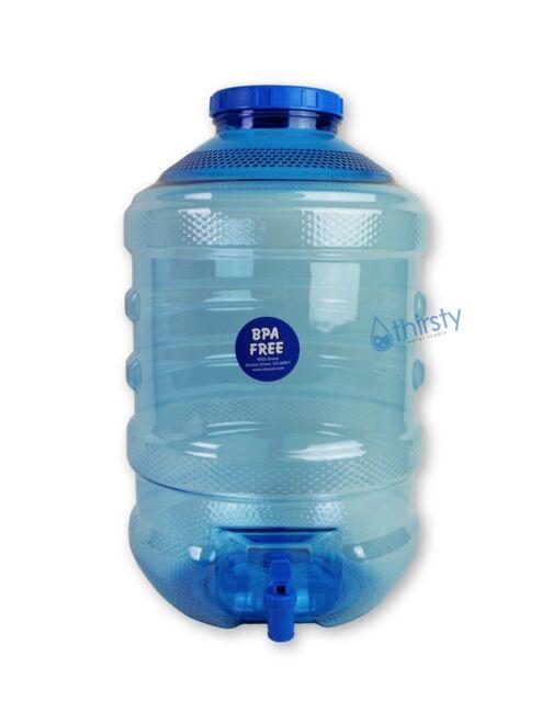 5 Gallon Water Bottle BPA Free Plastic Big Cap Jug Container w/ Faucet  Dispenser