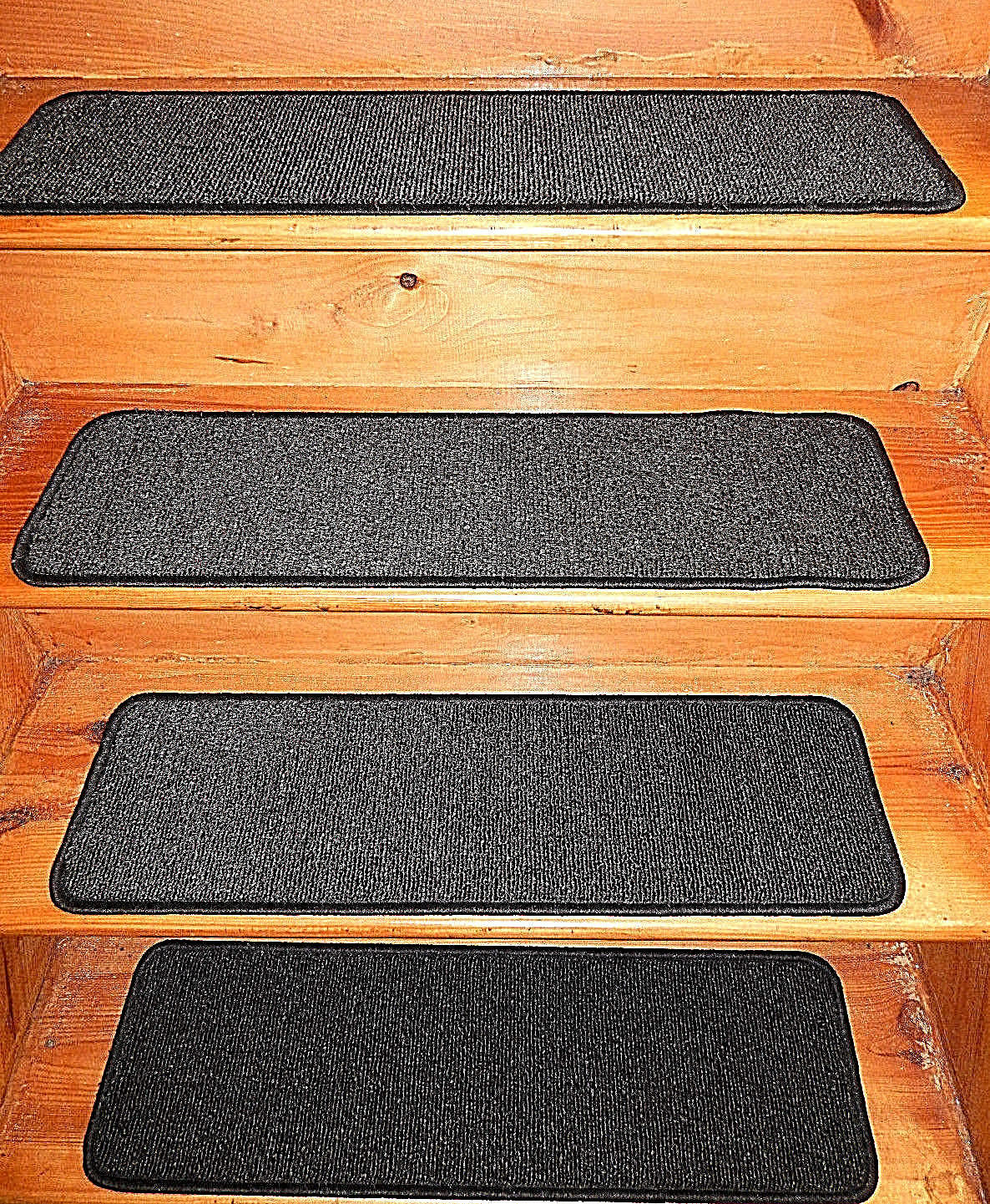 13 Step 9'' x 30''+1 Landing 30'' x 30'' In Outdoor Stair Treads Non-Slip Vinyl.