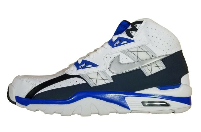 uk availability 7d525 f3637 Nike Men's Air Trainer SC High White/Blue/Black Training Shoes 302346 117  sz 13