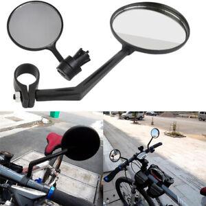 1X Cycling Bike Bicycle Handlebar Flexible Rear View Rearview Mirror Safety UK√