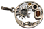 thumbnail 4 - Crescent Moon with Sun Pendant Round 925 Sterling Silver Multi Color Amber # 56