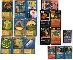 TOP TRUMPS - 3 DIFFERENT COMPLETE MINT BUT OPENED SUPER TRUMP CARD PROMO CARDS