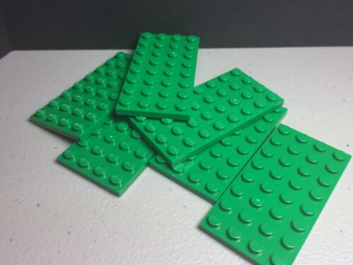 NEW LEGO Green Plates 4 x 8 #3035 LOT of 6 Plates