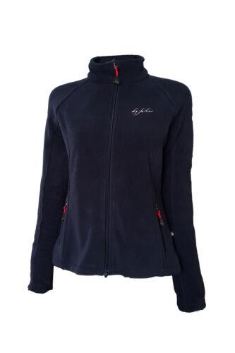 Dry Fashion Damen Fleecejacke Ummanz mit Taschen in navyblau rot oder schwarz