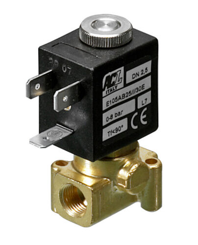 "2.0mm orifice FPM 1//8/"" BSP 2 way normally closed direct acting solenoid valve"