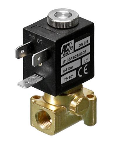 "2.0mm orifice FPM 1//8/"" BSP 2 way normally closed direct acting solenoid valve"
