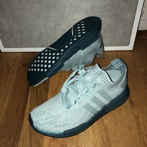 dfbbfd216ecca Details about Adidas NMD R1 PK Primeknit Sea Crystal Blue Boost CG3601 Womens  Shoes Size 9 New