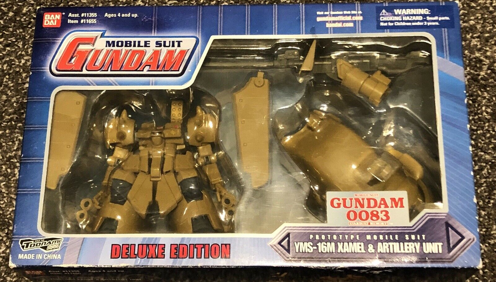 Bandai Gundam Gundam Gundam 0083 Stardust Memory Xamel Action Figure  Msia weapon lot f82192