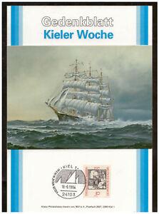Rfa-Feuillet-Commemoratif-Semaine-de-Kiel-1994-Passat-Sst-Kiel-18-06-1994