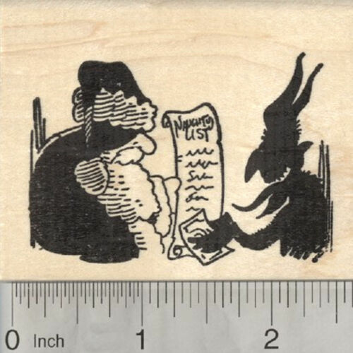 Buying Naughty List from Santa J29319 WM Christmas Krampus Rubber Stamp