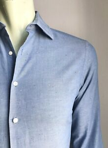 Ben Sherman Shirt, Speckled Chambray, Small, Tailored Fit, Excellent Condition