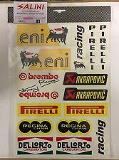 Adesivi SPONSOR TECNICI  Eni - Racing - Akrapovic - Regina - Dellorto - Brembo