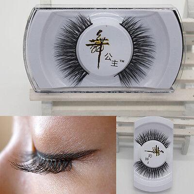 Luxury 100% Black Real Mink Soft Long Thick Makeup Eye Lashes False Eyelashes