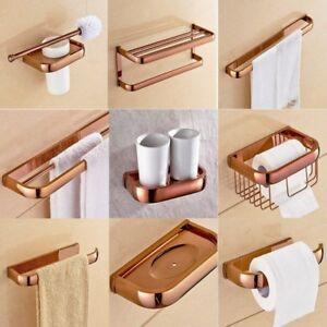 Luxury Rose Gold Copper Bathroom Accessories Bath Hardware Towel Bar