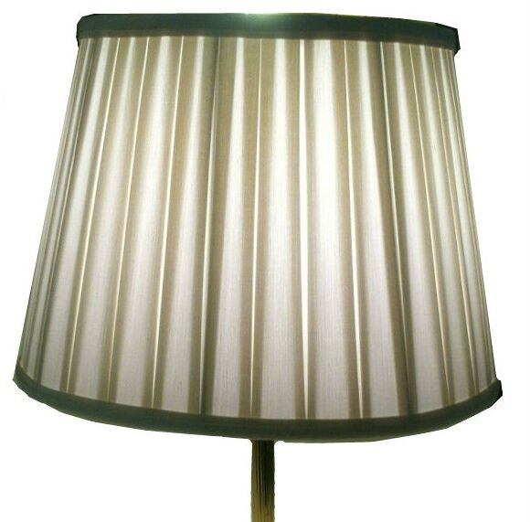 16  Pure Silk Oyster Weiß Lampshade Light Lamp Shade European Pleated Slit