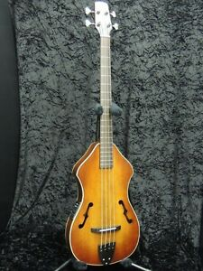 New-K-yairi-YB-13-Sunburst-Hand-Made-in-Japan-Acoustic-Electric-Bass-Hard-Case