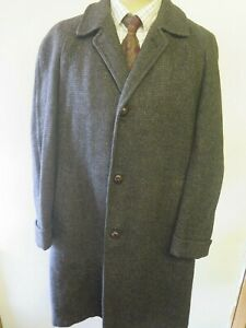 distinctive design retro the cheapest Details about Genuine Harris Tweed Grey Coat Size M 38-40 Regular Euro 48-50