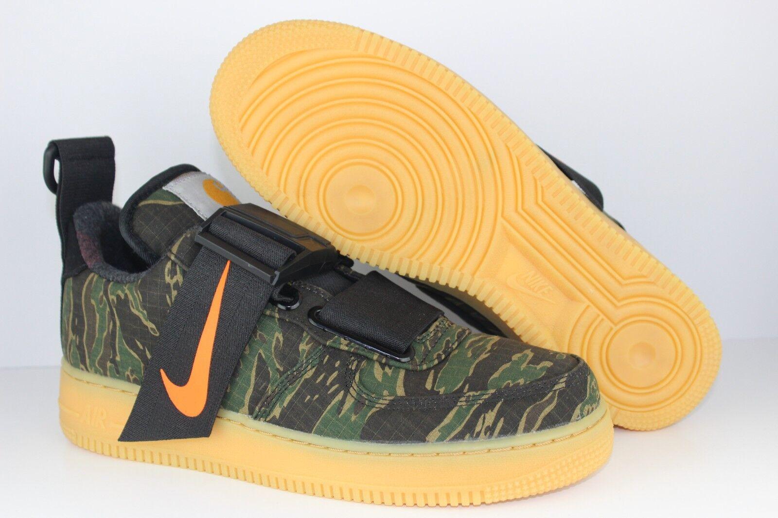 Nike Mens Air Force 1 UT Low PRM WIP Camo Green orange Carhartt Collab AV4112300