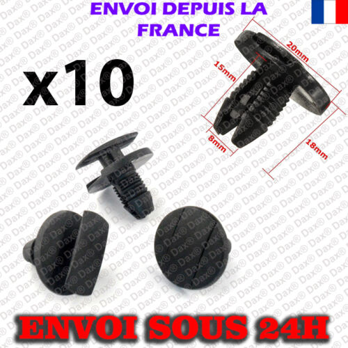10 Agrafes Clips Citroen  1609267280  Peugeot 856553 Renault  9648975680