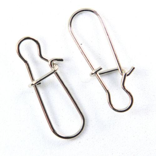 INFOF 200pcs Fishing Duo Lock Snap Swivel Fishing Tackle Crappie Fishing Gear