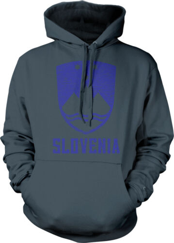 Slovene Pride Hoodie Pullover Distressed Slovenia Country Crest