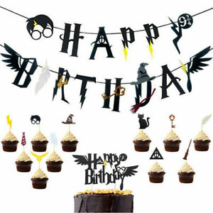 17Pcs-Harry-Potter-Happy-Birthday-Banner-Cake-Picks-Cupcake-Toppers-Party-Set