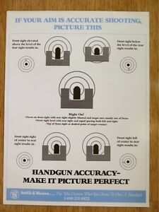 SMITH-amp-WESSON-HANDGUN-ACCURACY-POSTER-NEW-GREAT-FOR-BAR-MANCAVE