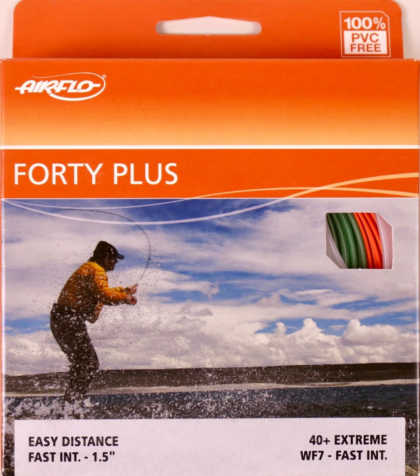 Airflo Forty Plus Extreme WF7 Fast Intermediate Fly Line Libre FAST SHIPPING 40+