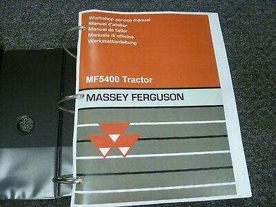 Massey Ferguson MF 5425 5435 5445 5455 5460 5465 Servicio De Reparación Manual de taller