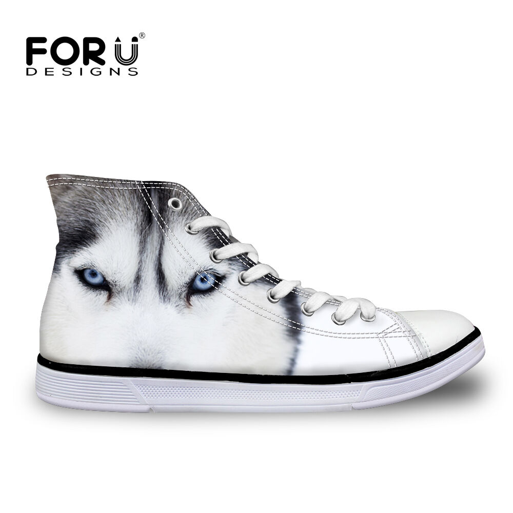 New Men's Canvas Sneakers Animal Print Lace Up Fashion Casual shoes High Top