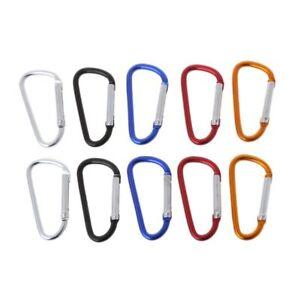 10pcs-Outdoor-Alloy-Aluminium-Carabiner-Safety-Keychain-Flashlight-Hang-Buckle