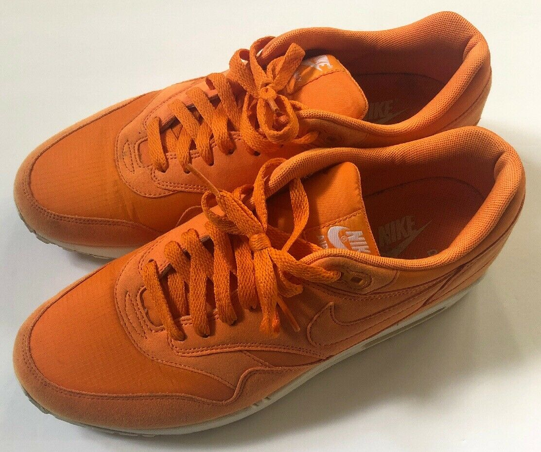 Nike Air Max 1 Mandarin Total orange Size 10 Retro Tennis Ball Sneakers