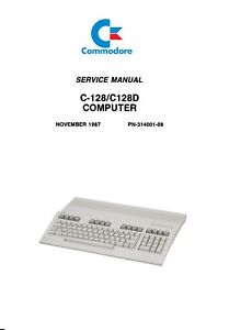 commodore c128 c128d computer service repair workshop manual rh ebay co uk Commodore 64 Printer Commodore SX-64