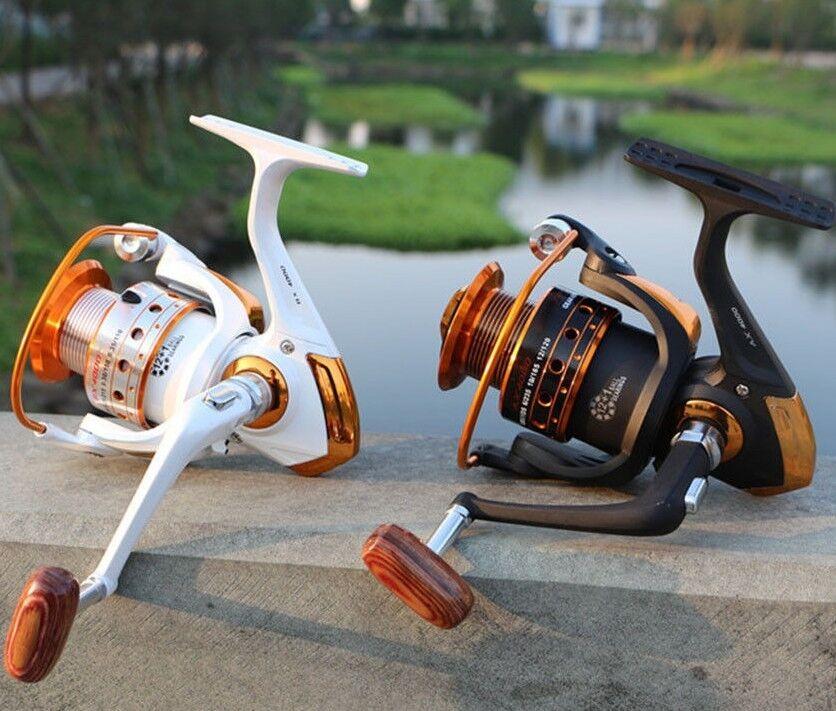 Fishing Reel 12BB 1Bearing Balls 500 9000 Iron Handle Spinning Cup Anti Reverse