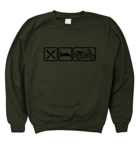 5XL Motorholics Mens Eat Sleep Norton Commando Sweatshirt S