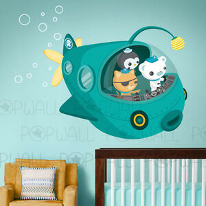 children wall decals wall sticker octonauts characters octonauts kid s room mural eclectic kids other by