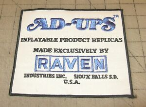 AD-UPS-Raven-Industries-6-034-x-6-5-034-White-Shirt-Jacket-PATCH-Sioux-Falls-SD