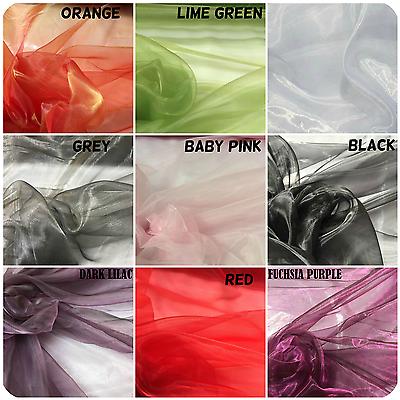 280cm Large Violet Tissu Organza Mariage Rideau Drape Voile Tissu de décoration