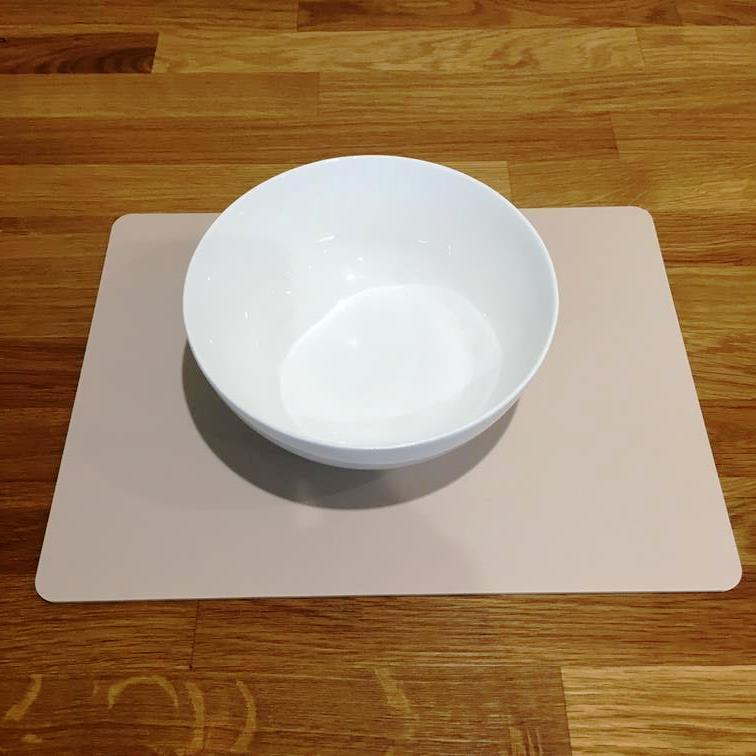 Rectangle Shaped Latte Beige Mat Acrylic Placemats Size 11.5x8.5  or 16x12
