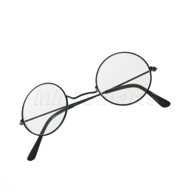 Costume Round Eye Glasses Nerd Bookworm Cosplay Dress Up Party Christmas Gift