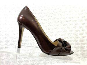 a46518b3e37 Women's Enzo Angiolini Brown Patent Leather Lamielee Peep Toe ...