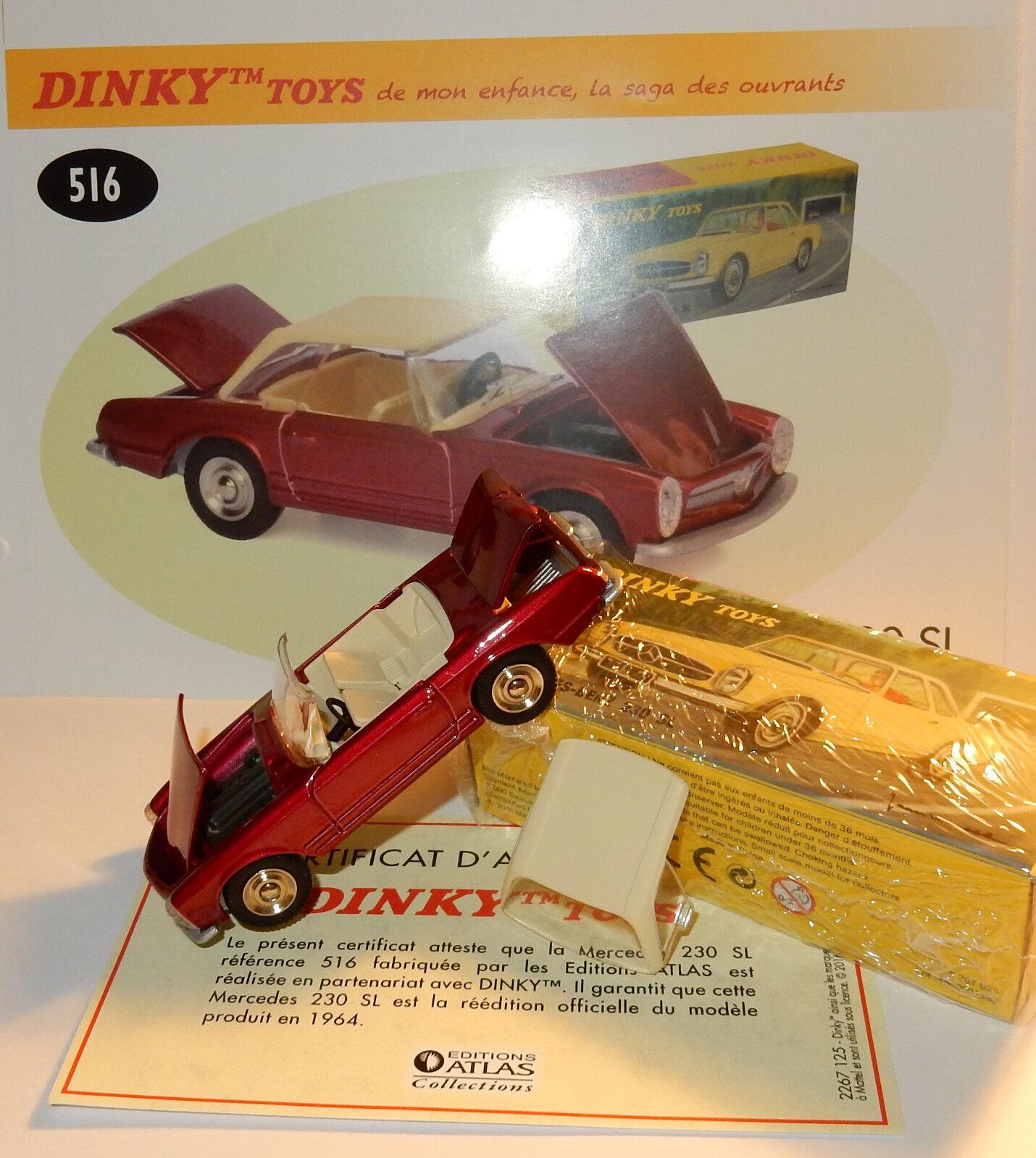 grande vendita Dinky Dinky Dinky giocattoli Atlas Mercedes-Benz 230 Sl Rosso in Mettuttio 1 43 Rif. 516 in scatola  risparmia il 35% - 70% di sconto