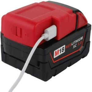 18V-M18-USB-Charger-Adapter-For-Milwaukee-Li-ion-Battery-Phones-iPads-Charger