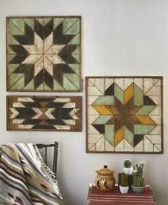 Rustic-Wood-Geometric-Quilt-Pattern-Wall-Art-Primitive-Farmhouse-Picture-Decor