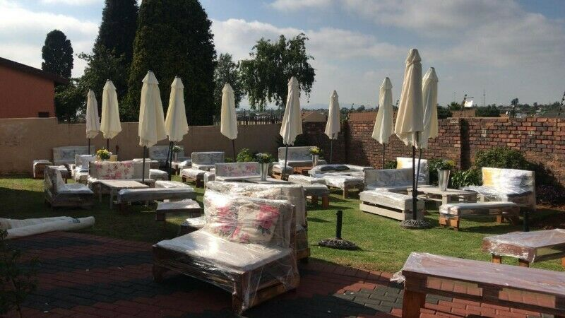 Events supply & party outdoor pallet furniture for hire - Four ways